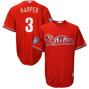 Bryce Harper Philadelphia Phillies Youth Authentic Cool Base 2018 Spring Training Majestic Jersey - Scarlet