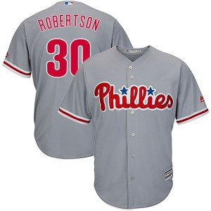 David Robertson Philadelphia Phillies Youth Authentic Cool Base Road Majestic Jersey - Gray