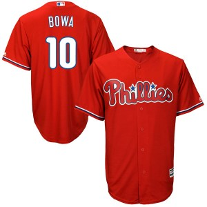Larry Bowa Philadelphia Phillies Youth Authentic Cool Base Alternate Majestic Jersey - Scarlet