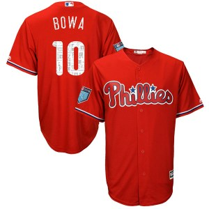 Larry Bowa Philadelphia Phillies Authentic Cool Base 2018 Spring Training Majestic Jersey - Scarlet
