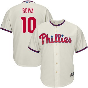 Larry Bowa Philadelphia Phillies Authentic Cool Base Alternate Majestic Jersey - Cream
